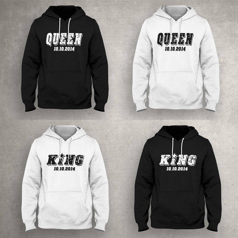 king queen p rchen kapuzensweatshirt pullover herren damen. Black Bedroom Furniture Sets. Home Design Ideas